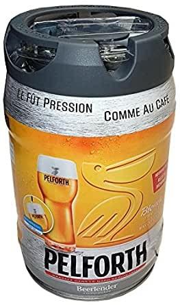 Fusto da 5 litri biondo birra Pelforth 5,8% vol. con rubinetto monouso