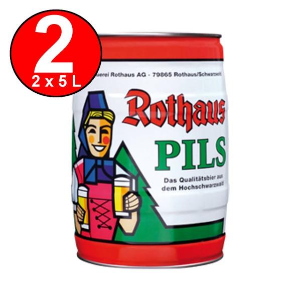 2 x Rothaus Pils 5 L keg 5,1% vol