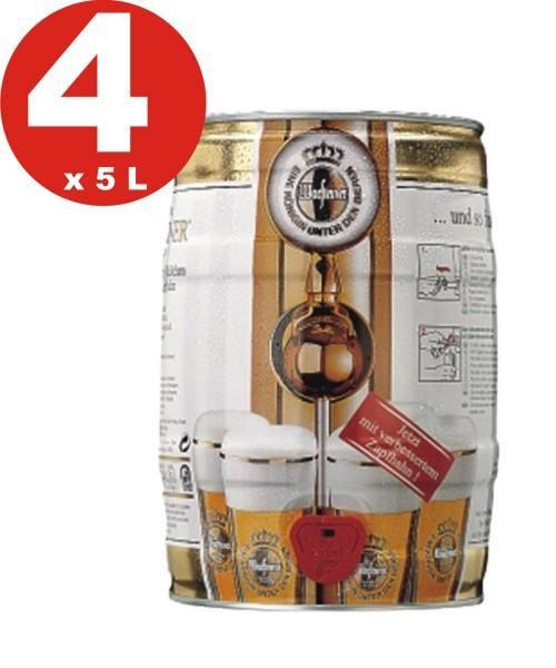4 x Warsteiner Pils 5 L Party Keg 4,8% vol.