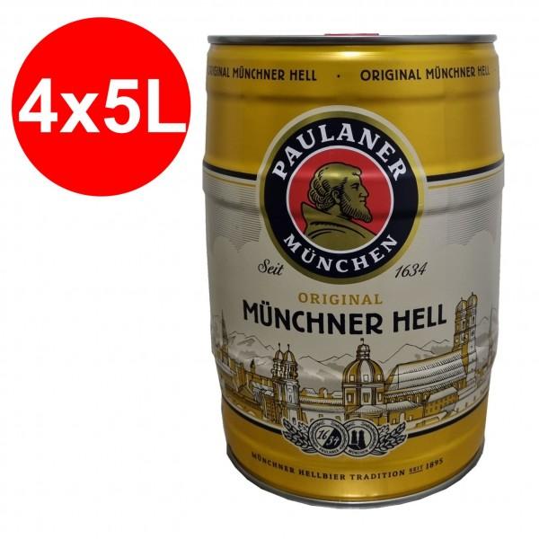 4 x Paulaner Muenchner Inferno 5 litri 4,9% vol barilotto di partito