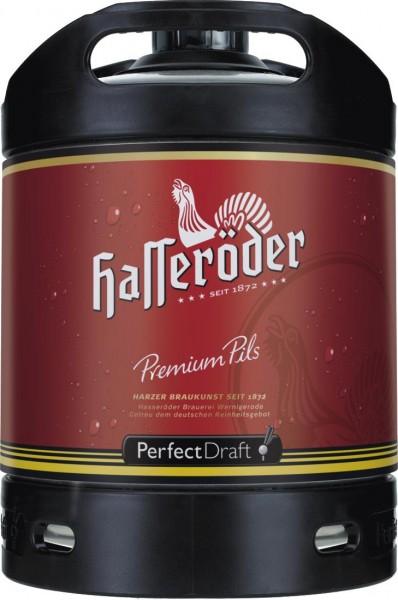 4 x Hasseroeder Perfect Draft Premium Pils 6 litri barile 4,9 % vol.