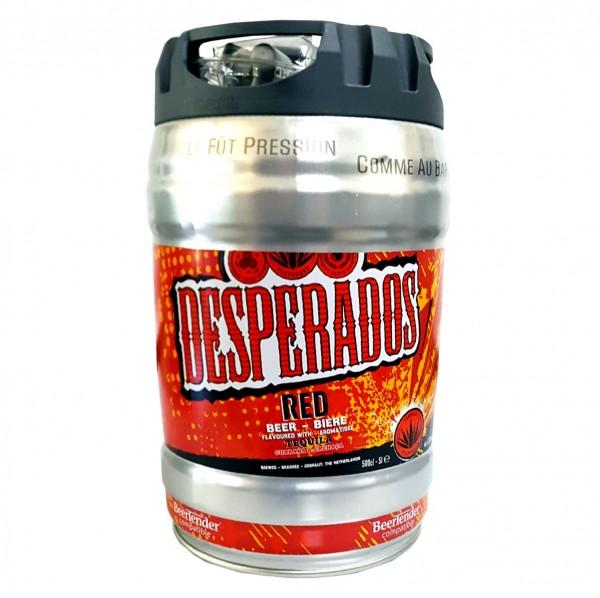 Birra desperados rossa con tequila, guaranà, cachaca, barile di festa, barile da 5 litri, incluso 5,9% vol.
