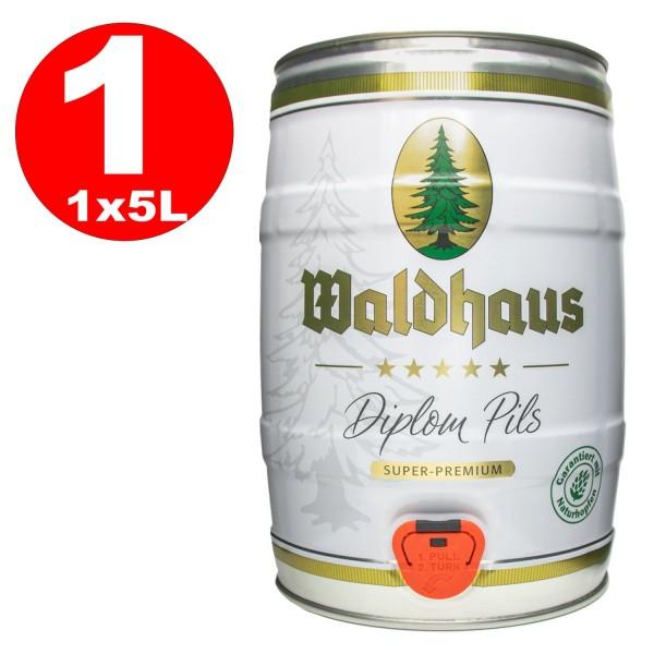 Waldhaus diplom pils 5 litri 4,9% vol. Barile di festa