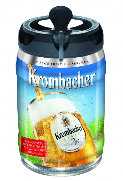 2 x Krombacher Pils fusti freschezza, 5 litri di 4,8% vol barile