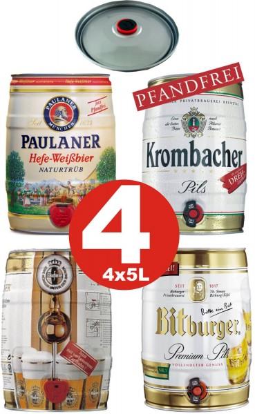 4 x barili di partito Diversi tipi 5 litri di alcol vedi descrizione