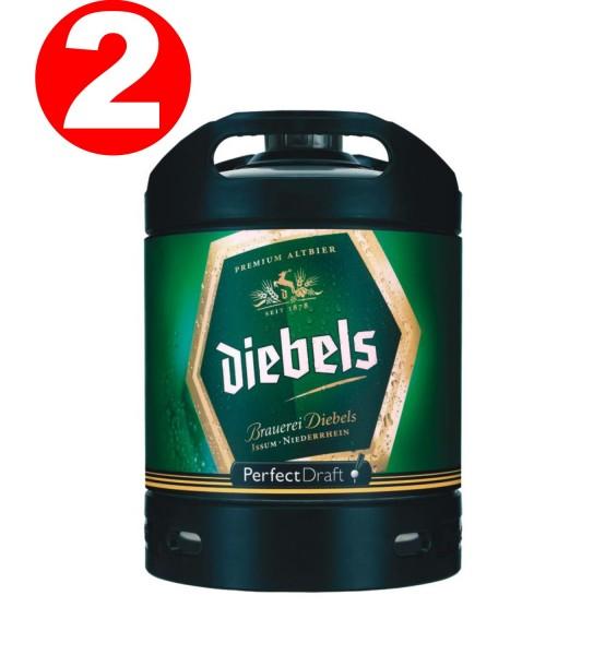 2 x Diebels Alt Perfect Draft Barrel 6 litri 4,9% vol.