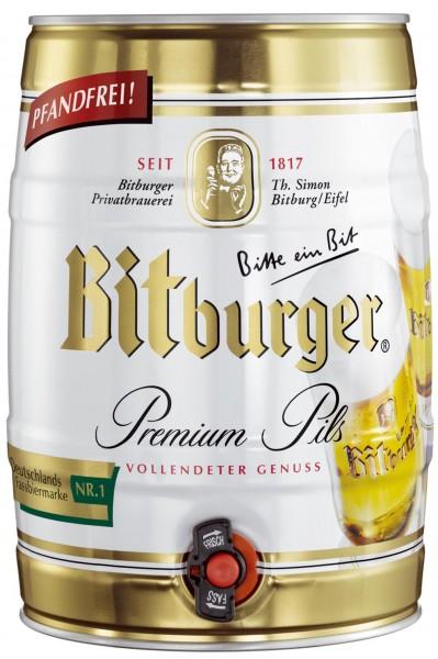 Bitburger Premium Pils 5 litro party keg 4,8% vol