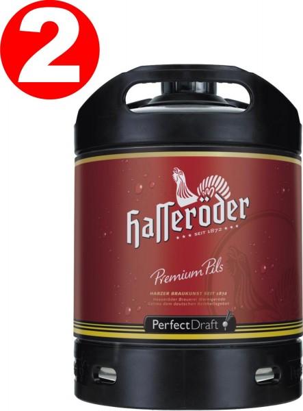 2 x Hasseroeder Perfect Draft Premium Pils 6 litri barile 4,9% vol.