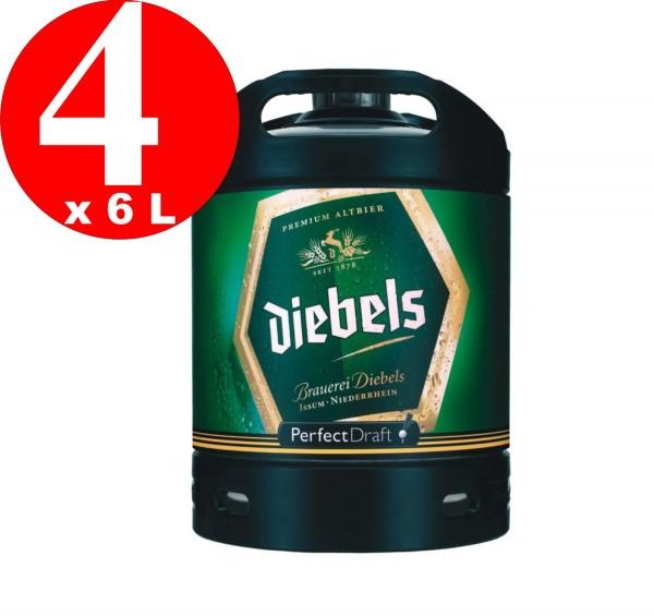 4 x Diebels Alt Perfect Draft Barrel 6 litri 4,9% vol.