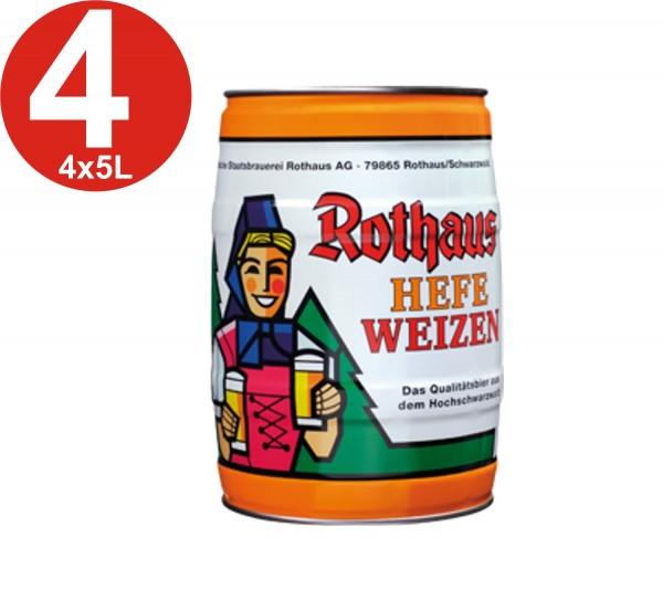 4x Rothaus Hefeweizen 5 L partito keg5,4% vol