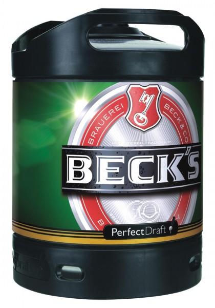 Beck's Pils Perfect Draft 6 lt barile 4.9% vol.