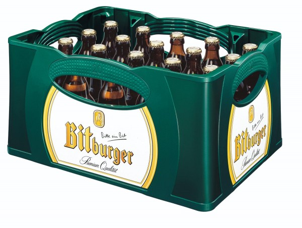 20 x Bitburger Premium Pils 0,33l - Steini Flavor 4,8% vol. custodia originale