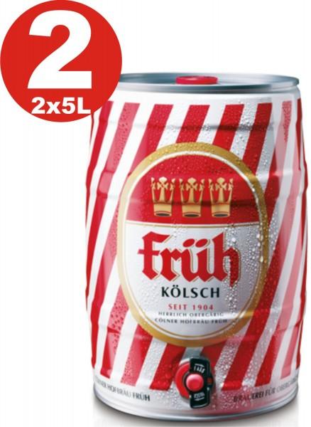 2 x barile di partito Frueh Koelsch 5 L 4,8% vol.