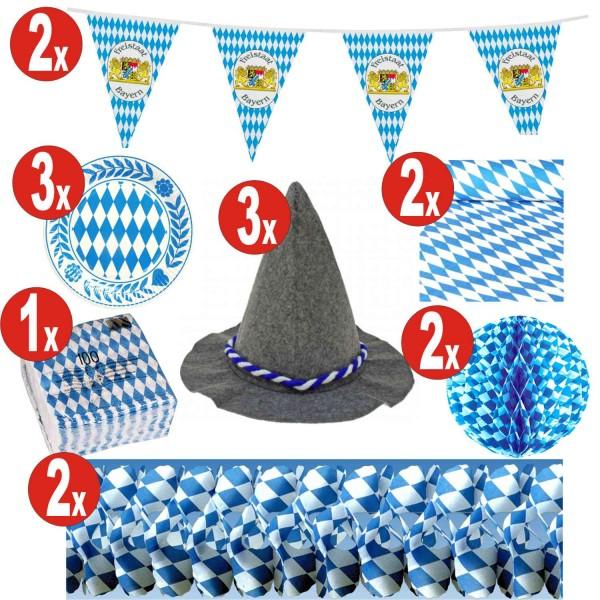 15 pezzi Decorazione Oktoberfest set_15 = 141 pezzi