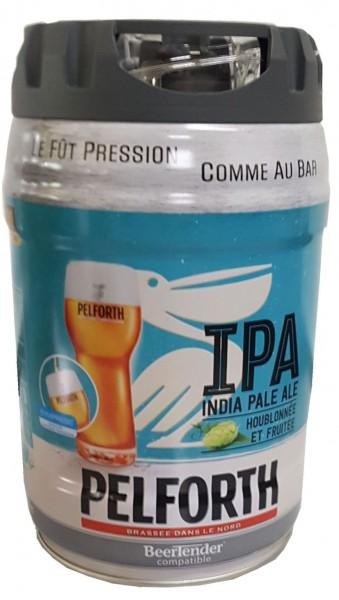 Pelforth IPA India Pale Ale Luppolo e frutta 5 litri barilotto 5.9% vol. monouso
