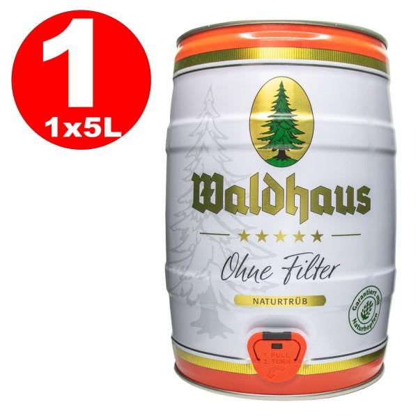 Waldhaus sin Filter Naturtrueb 5 L party keg 5,6% vol. La cerveza de los hombres