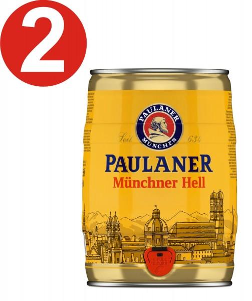 2 x Paulaner Muenchner Hell 5 litri 4,9% vol barilotto di partito