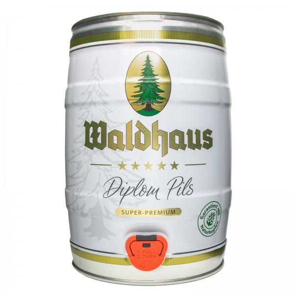 4 x Waldhaus diplom pils 5 litri 4,9% vol. bariletto