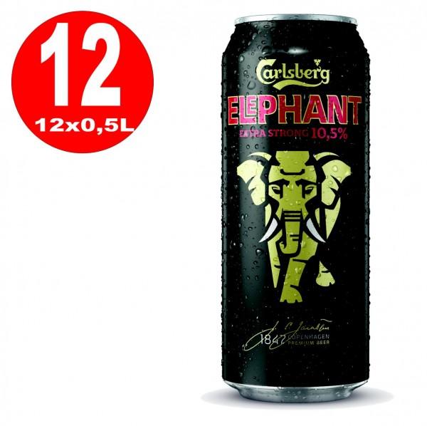 12x lattine 0,5L Carlsberg Elephant Beer birra forte extra forte 10,5% Vol EINWEG