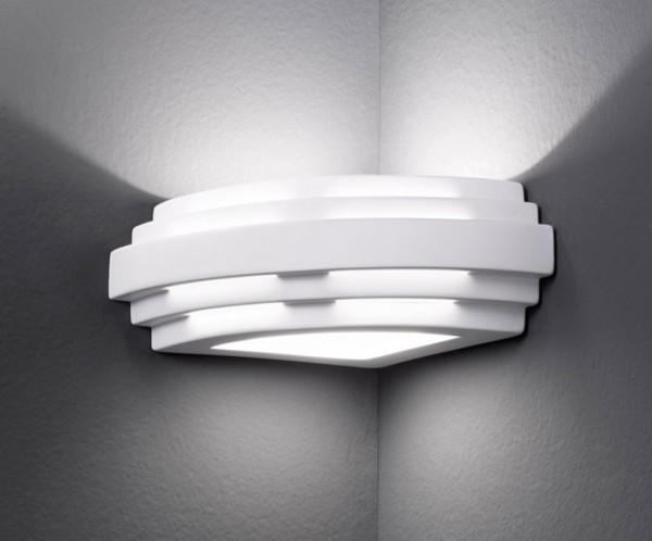 Austrolux stiegel applique da parete in ceramica 1 fiamma bianca