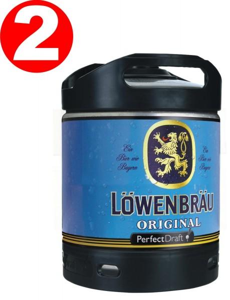 2 x Loewenbraeu Original Perfect Draft barile da 6 litri 5,2% vol