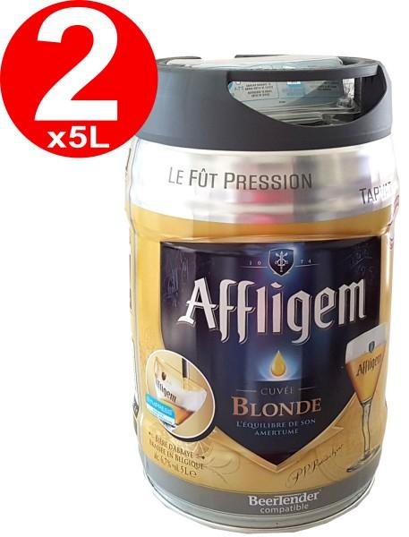2 x Affligem biondo barile party barile 5 litri incl. Rubinetto 6,8% vol.