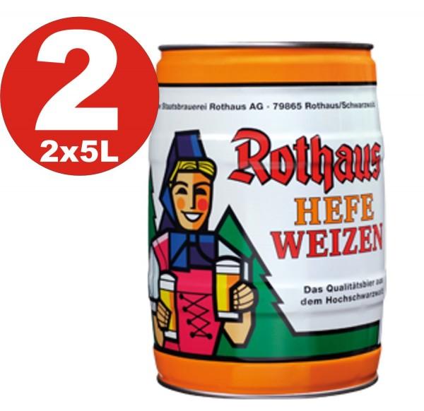 2 x Rothaus Hefeweizen 5 L partito keg5,4% vol