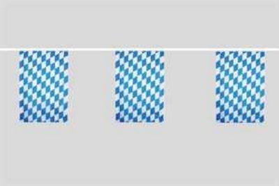 Catena bandiera Baviera con diamante 6 metri blu-bianco