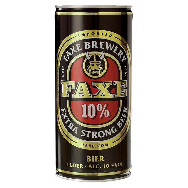 12 x Faxe extra forte 10% vol. Birra forte dalla Danimarca 1 litro