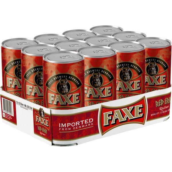 12 x Faxe Premium Danish Lager 5% vol 1 litro lattina