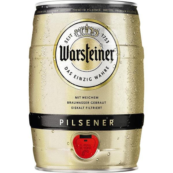 Warsteiner Pils 5 L barile di partito 4,8% vol.